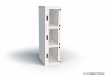 RSB-CM-42-4-T - Комплект индивидуальных кабельных каналов для шкаф Contegа RSB 42U с 4 секциями, подвод кабеля только сверху