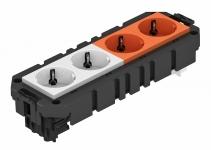 7404636 - OBO BETTERMANN Укомплектованная модульная рамка MT3 для 2-х цепей тока (AMT4 2WS2ORVCG).