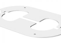 6290200 - OBO BETTERMANN Рамка электромонтажной колонны ISS (сталь,белый) (WAG70140TRW).
