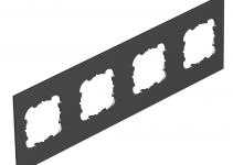 7408196 - OBO BETTERMANN Крышка для напольного бокса Telitank на 4 устройства EKR 284x88 мм (ПВХ,черный) (T12L P4S 9011).