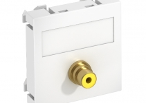 6104970 - OBO BETTERMANN  нет серт Мультимедийная рамка Video-Cinch Modul45 (белый) (MTG-R L RW1).