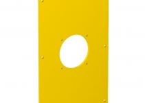 6109878 - OBO BETTERMANN Накладка блока питания VH для монтажа устройств, 160x105x3 мм (ПВХ,желтый) (VHF-P7).