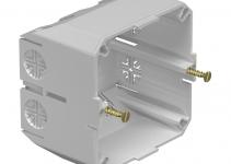 6023207 - OBO BETTERMANN Монтажная коробка для кабельного канала WDK 2390 (ПВХ,светло-серый) (2390).