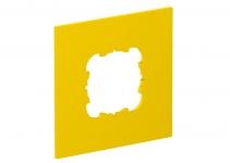 6109834 - OBO BETTERMANN Накладка блока питания VH для монтажа устройств, 95x95 мм (желтый) (VH-P2).