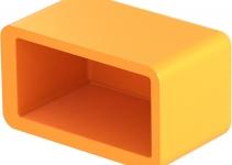 1124502 - OBO BETTERMANN Защитный колпачок для рейки 38,6x21,6x16мм (1268 SK OR).