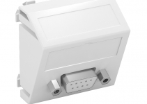 6104646 - OBO BETTERMANN Мультимедийная рамка D-Sub9 Modul45 (белый) (MTS-DB9 S RW1).
