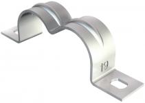 1004298 - OBO BETTERMANN Крепежная скоба (клипса) двойная металл. 2x28мм (604 2X28).