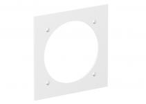 6109837 - OBO BETTERMANN Накладка блока питания VH для монтажа устройств, 95x95 мм (белый) (VH-P3 RW).