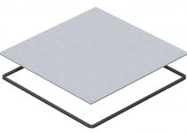 7400597 - OBO BETTERMANN Заглушка монтажного основания UZD350 влагозащитная 383x383x4 мм (сталь) (DUF 350-2).