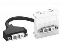 6104754 - OBO BETTERMANN Мультимедийная рамка DVI Modul45 (белый) (MTG-DVI F RW1).
