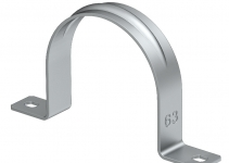 1017950 - OBO BETTERMANN Крепежная скоба (клипса) металл. двухлапковая 40мм (605 40 ALU).