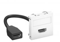 6104826 - OBO BETTERMANN Мультимедийная рамка HDMI Modul45 (белый) (MTG-HD F RW1).