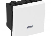 6117647 - OBO BETTERMANN Выключатель 16 А, 250 В (белый) (AS-K2P RW1).