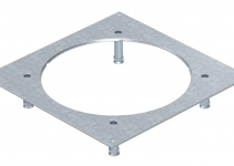 7400491 - OBO BETTERMANN Крышка усиленная монтажного основания UZD250-3R9 (h=100-140 мм,сталь) (DUG 350-3R9SL100).