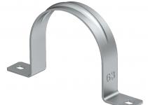 1017997 - OBO BETTERMANN Крепежная скоба (клипса) металл. двухлапковая 63мм (605 63 ALU).