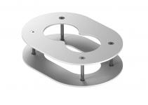 6290382 - OBO BETTERMANN Рамка для подвесного потолка электромонтажной колонны 140x100x40 мм (сталь,белый) (DAB-2F).