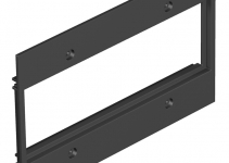 7408164 - OBO BETTERMANN Крышка для напольного бокса Telitank на 3 Modul45 142x88 мм (полиамид,черный) (T12L P17S 9011).