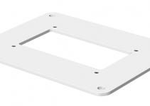 6290100 - OBO BETTERMANN Напольная пластина для электромонтажной колонны (сталь,белый) (ISSBP70110RW).