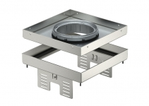 7409374 - OBO BETTERMANN Кассетная рамка RKFN2 UZD3 ном.размер 4 200x200 мм (сталь) (RKFN2 UZD3 4VS25).