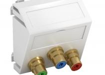 6105150 - OBO BETTERMANN Мультимедийная рамка Video-Cinch Modul45 (белый) (MTS-3R F RW1).