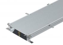 7424504 - OBO BETTERMANN Секция кабельного канала OKA-W глухая с фиксаторами, 2400x400x100 мм (сталь) (OKA-W40010050R).