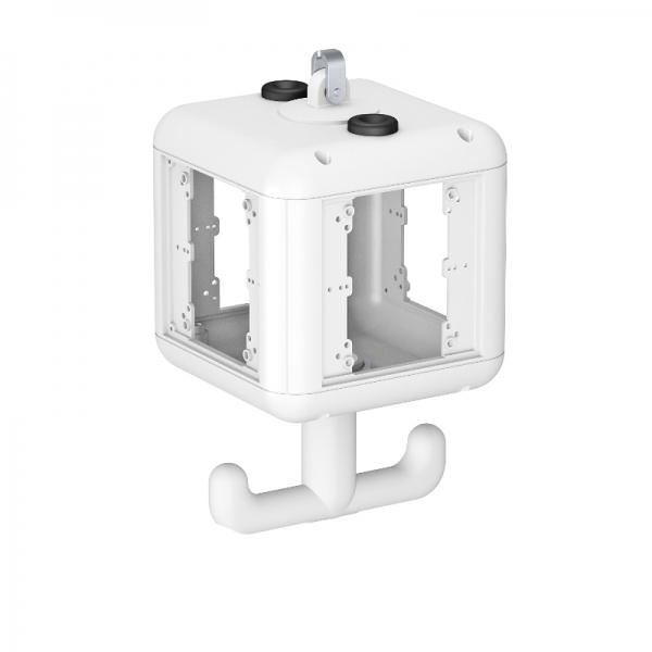 6109801 - OBO BETTERMANN Корпус блока питания VH-4 (пустой) 140x140x252 мм (белый) (VH-4 LG RW).