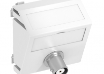 6105036 - OBO BETTERMANN Мультимедийная рамка Video-BNC Modul45 (серебристый) (MTS-BC F AL1).
