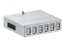 6108014 - OBO BETTERMANN Распределитель энергии UVS 160x150x48 мм (сталь) (UVS-6W2SA).