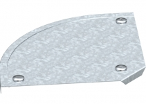 7129637 - OBO BETTERMANN Крышка угловой секции 90° 200мм (DFB 90 200 FS).