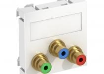 6105114 - OBO BETTERMANN Мультимедийная рамка Video-Cinch Modul45 (белый) (MTG-3R L RW1).