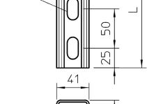 1122980 - OBO BETTERMANN Монтажная рейка 3000x41x41 (MS 41 L 3M 2 V2A).