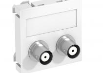 6105090 - OBO BETTERMANN Мультимедийная рамка Audio-BNC Modul45 (белый) (MTG-2BC F RW1).