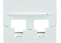 FP4MF2KW - Лицевая панель под модуль RJ-45 Volition®, 2-порт, 45х45, белая Deluxe