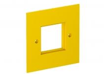 6109840 - OBO BETTERMANN Накладка блока питания VH для монтажа устройств, 95x95 мм (желтый) (VH-P4).