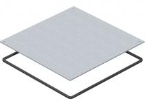 7400589 - OBO BETTERMANN Заглушка монтажного основания UZD250 влагозащитная 282x282x4 мм (сталь) (DUF 250-2).